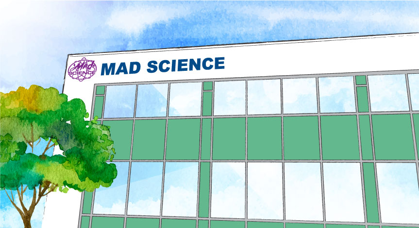 illustration of Mad Sciences corporate office