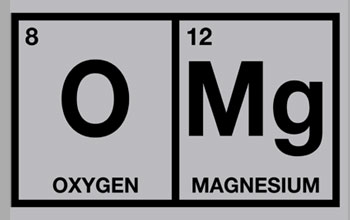 Periodic table with oxygen and magnesium with make up omg
